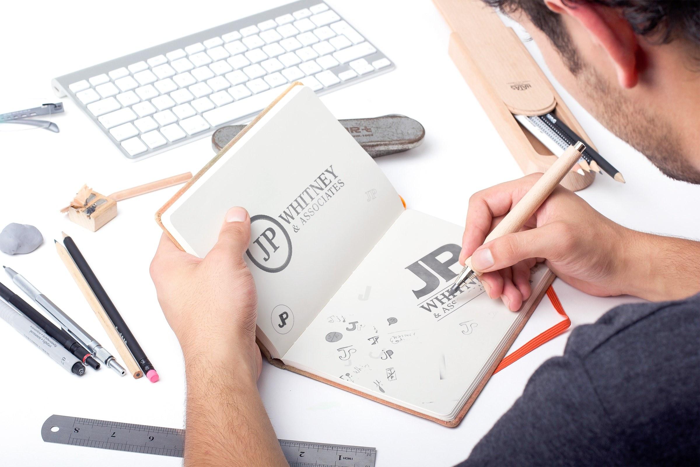 JPWhitney Logo Process-Sketch-min
